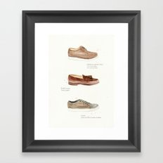 2011 Shoes Framed Art Print