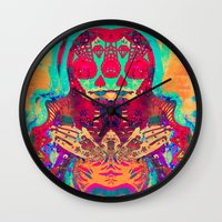 Eye Of Mary - Painting -… Wall Clock