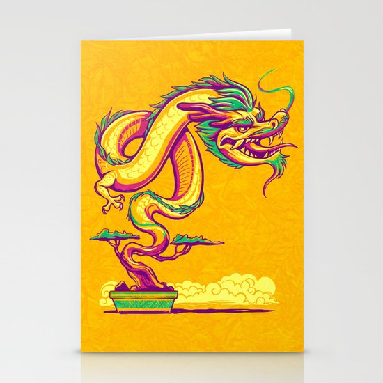 Bonsai Dragon Stationery Card