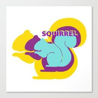 Layers Of Squirrels Canvas Print