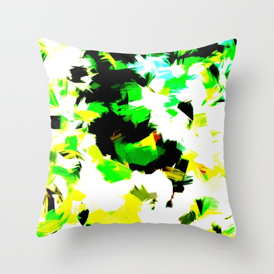 BLOSSOMS - COLORS Throw Pillow