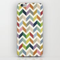 Vintage Chevron - Color … iPhone & iPod Skin