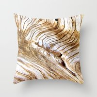 Organic Design Tree Wood… Throw Pillow