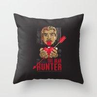 Ray: The Bear Hunter Throw Pillow