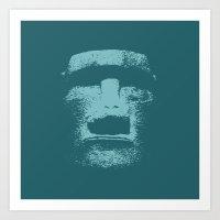 Maoi Head Art Print