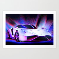 E Wolf Supercar Art Print