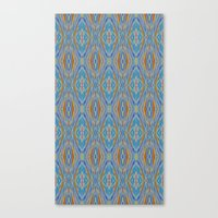 Liquid Ikat Canvas Print