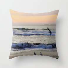 aptos in orange Throw Pillow