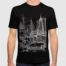New York B&W (Dark T-shirt Version) SMALL Black Mens Fitted Tee