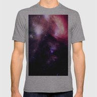 NebUlA Mens Fitted Tee Athletic Grey SMALL
