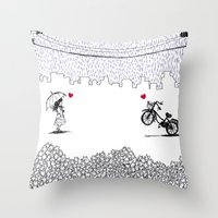 Little Love Story Throw Pillow