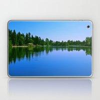 Scenic summer lake Laptop & iPad Skin