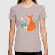 Winter Dreams Womens Fitted Tee Cinder SMALL