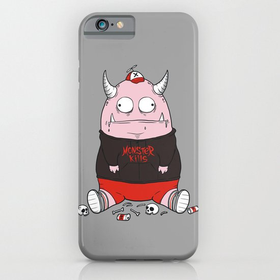 Pink Monster Kills iPhone & iPod Case