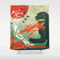 Tokyo Or Bust Shower Curtain