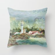 Whitefish Point Throw Pillow