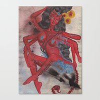 Scorpio: The Feared Revenger (Oct 23 - Nov 21) / Original Gouache On Paper Painting / Illustration Canvas Print