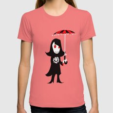 Little Vampire Girl Womens Fitted Tee Pomegranate SMALL