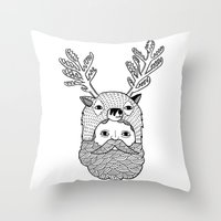 Portrait Of Northern Dee… Throw Pillow