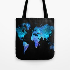 Space World map Tote Bag