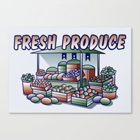 Fresh Produce Canvas Print