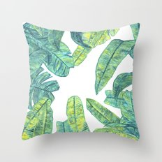 tropical daze Throw Pillow