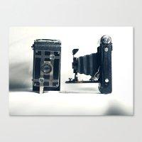 Antique Cameras Canvas Print