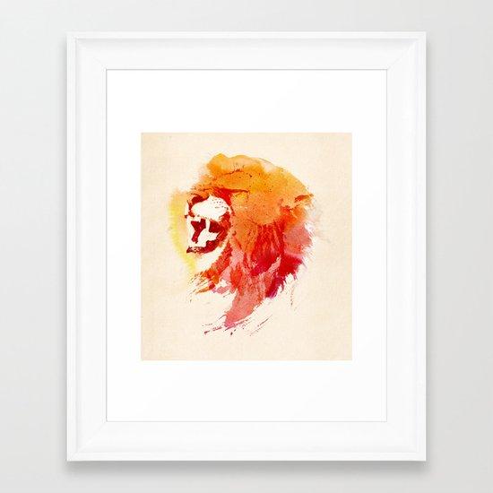 Angry Lion Framed Art Print