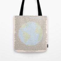 Environmental Consciousness Tote Bag