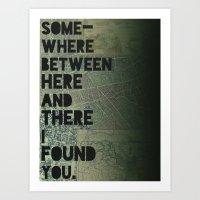 Here & There III Art Print