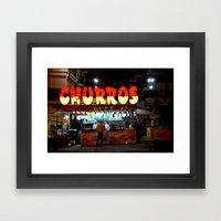 Churros Framed Art Print