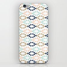 Aztec - Geometric tribal pattern in navy, gold glitter, pink, and blush iPhone & iPod Skin