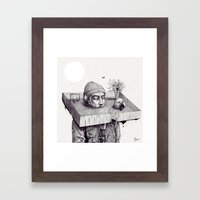 kid please draw me a house Framed Art Print
