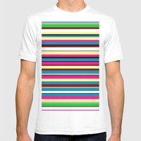 Stripes Mens Fitted Tee White SMALL