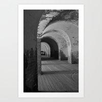 Fort Pulaski B&W Art Print