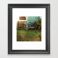 la bicyclette bleu Framed Art Print