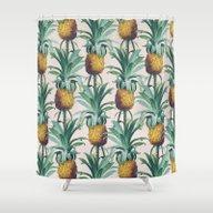 Pineapple Trellis Shower Curtain