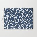 Kerplunk Navy and White Laptop Sleeve