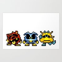 Dr. Mario Viruses Art Print