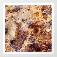 Brown Marble Art Print