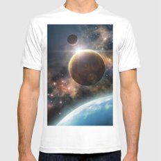 Welcome to the Space Mens Fitted Tee White SMALL