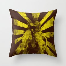 distressed  boxer Throw Pillow