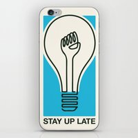 Stay Up Late iPhone & iPod Skin