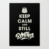 Keep Bombing Canvas Print