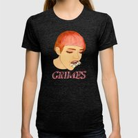 Grimes Womens Fitted Tee Tri-Black SMALL