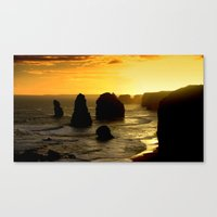 Dusk falls over the Southern Ocean Canvas Print