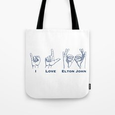 I Love Elton V2 Tote Bag