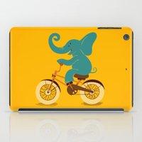 Elephant on the bike iPad Case