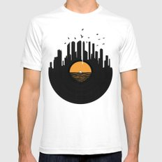 Vinyl City SMALL Mens Fitted Tee White