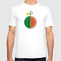 Fruit: Watermelon Mens Fitted Tee White SMALL